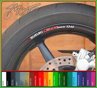 8 x SUZUKI B-KING 1340 Wheel Rim Stickers Decals - bking b king gsx1300 gsx 1300