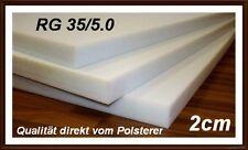Schaumstoff Platte Schaumstoffplatte RG35 200x120x2 cm