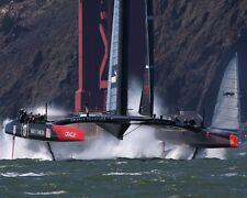 America's Cup Sailboat Sailing Boat USA Under Golden Gate Bridge 2013 8x10 Photo
