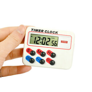 1Pcs LCD Digital Timer with Memory Funcation 12/24 H Kitchen Cooking Sport Clock