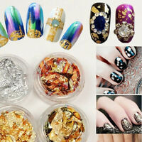 Glittery Nail Foil Paper Art Flakes Nails Cover Manicure Decoration Gold Silver