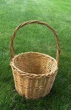 New listing Antique Aafa Folk Art Primitive Large Huge Handled Woven Storage Wicker Basket