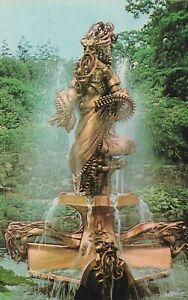 Chester Zoo. Noah Fountain.  Postcard in fair/damaged condition. Unused