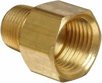 "Brass  3/8"" Male NPT x 1/2"" Female NPT Brass Straight Adapter"