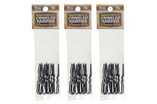 """Amish Made Crinkled   Heavy Duty  1 5/8"""" Stainless Steel Hairpins  3 PACKS"""