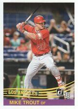 2018 Donruss Baseball #242 Mike Trout RETRO Angels
