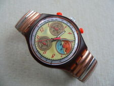 1994 Swatch watch chrono - chronograph Dancing Feathers SCO100FM