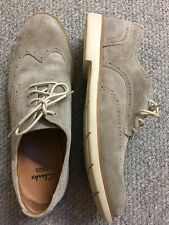 Clarks RASPIN BROGUE Grey Suede Lace Up Smart Casual Shoes UK 11 G GC