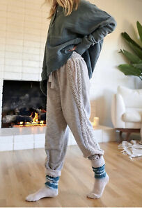 Free People Movement Joggers Mountain High Cable Stretch Crochet Gray S NWT