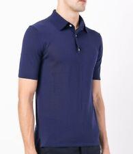 Hardy Amies Navy Blue 100% Cotton Short Sleeve Polo Shirt Large
