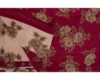 Granate Saree Vintage Abstracto Estampado Mujeres Fiesta Vestido Seda Pura Sari