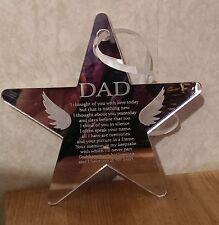 Dad Laser Engraved Star Memorial Plaque Sign Reminder Memory Memorial Keepsake