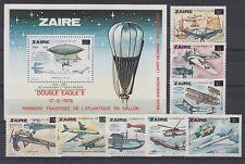 Flugzeuge  Zaire  880 - 87 + Block 51  ** (mnh)