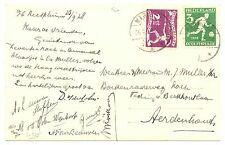 NETHERLANDS 1928 OLYMPICS  PPC FOTO  WARMOND  # 213/214     VF