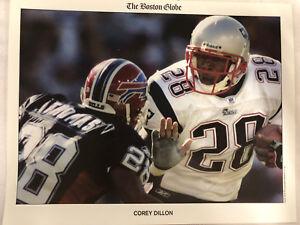 "New England Patriots Corey Dillon The Boston Globe 8 1/2"" x 11"" Photo"
