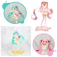 Movable PVC Action Doll Figurine w/ Stand Hatsune Miku Sakura Anime Toys 20-23cm