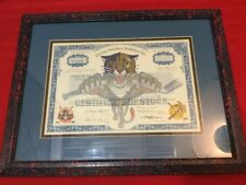 FLORIDA PANTHERS HOLDINGS INC COMMON STOCK CERTIFICATE 1997