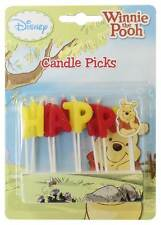 Winnie the Pooh Candle Happy Birthday Pick Candles