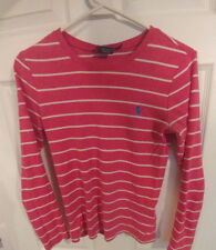 Girl's, Ralph Lauren, Sport, Sweater, Pink, Striped, Size Small, Youth
