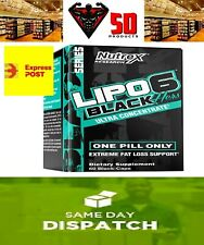NUTREX LIPO 6 BLACK HERS ULTRA CONCENTRATE, Thermogenic , Fat Burner, 60CAPSULES