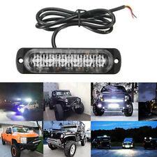 1X Blue & Red 6LED Car Truck Beacon Warning Hazard Flash Strobe Light  Universal