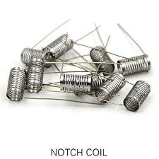 10 x Notch Coil Wire Fertigwicklung RDA/RBA/RTA Edelstahl Selbstwickler