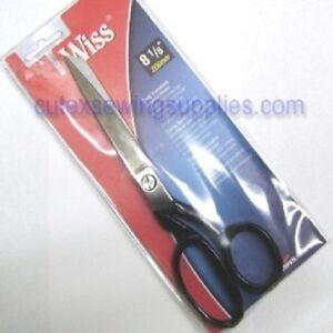 "WISS 8-1/8"" Solid Steel Dressmaker Bent Trimmer Shears Scissors W428"