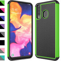 For Samsung Galaxy A20/A30/A50 Tempered Glass Screen Protector Shockproof Case