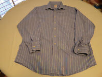 Mens Brooks Brothers long sleeve button shirt 16 1/2 35 striped blue white GUC @