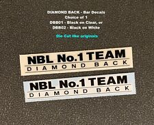Diamond Back Nbl No. 1 Team -Die Cut Bar Decal-Available in 2 background colors