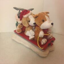 """Gemmy - Christmas - Plush Animated - """"Sleigh Ride Together"""" - Dogs Sleigh Sled"""