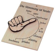Stimmungsbarometer Stimmungsanzeiger Stimmungsschild Holz 17 x 11 cm