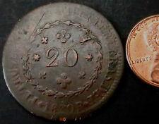 R807: 1830 cobre 20 Reis Brasil