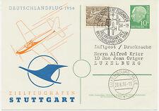 2402 BRD 1956 Heuß Privat-GA DEUTSCHLANDFLUG 1956/ZIELFLUGHAFEN STUTTGART LUXEMB