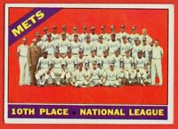 1966 Topps #172 New York Mets Team EX-EXMINT+ Tug McGraw Warren Spahn FREE SHIP