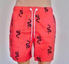 Hollister Mens Guard Fit Swim Trunks Shorts Coral Snake Print Medium RRP £29