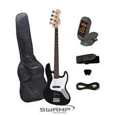 Artist JB2SB Jazz Style Electric Bass Guitar + Accessories - Black