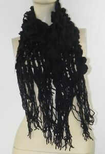 Soft Knitted Cobweb Scarf with Stretch & fringing on Ends 6 Colours