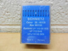 Schmetz Sewing Needles 100 pk Canu: 26:65EB Nm: 90/036 UY 113 GS SES UY 113 GHS