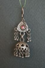Drop by $6   Very Rare Old Tibet Or Pakistan Silver Earring-2-2(one of a pair)