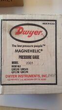 2301 Dwyer Magnehelic Differential Pressure Gauge