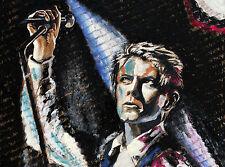 David Bowie Rock Psychodelic Music POP Konzert Kunstdruck Poster by Volker Welz