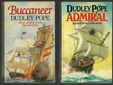 2 NAVAL NOVELS/POPE/ADMIRAL & BUCCANEER/17TH CENTURY NAVY/SHIP/PIRATES/P O'BRIAN