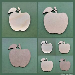 Wooden Apple shapes MDF or plywood craft blank apple cut outs Various sizes
