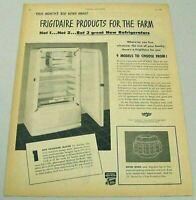 1948 Print Ad Frigidaire Refrigerators for the Farm General Motors Dayton,Ohio