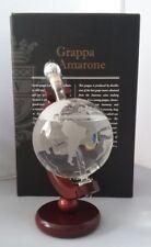 Globusflasche im Geschenk Packung Bonollo Grappa di Amarone Flugzeug Figure
