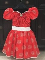 Disney Store Limited Edition 1 of only 1500 Minnie Mouse Costume Dress size 7-8