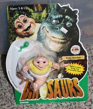 Vintage DINOSAURS Baby Sinclair Action Figure in Package # 7185 Disney Hasbro