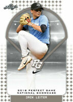 "JACK LEITER 2018 ""1ST EVER PRINTED"" LEAF PERFECT GAME ROOKIE CARD!"