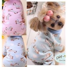 Dog Pajamas Extra Small Clothes Cotton Jumpsuit Shirt Sleepwear XS S M L Maltese